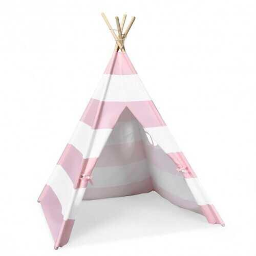 5' White & Pink Portable Indian Children Sleeping Dome Play Tent - Color: Pink - NorCal Cyber Sales