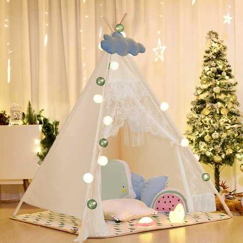 Kids Lace Teepee Tent Folding Children Playhouse W/Bag - NorCal Cyber Sales