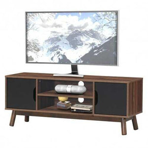 "50"" Wood Media TV Stand with Storage Shelf-Black - Color: Black - NorCal Cyber Sales"