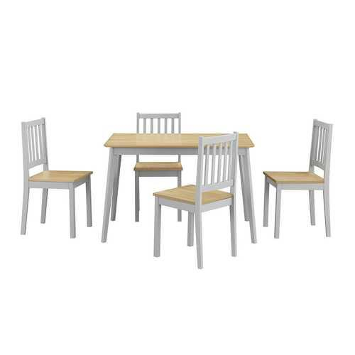 5 Piece Mid Century Modern Dining Table Set - NorCal Cyber Sales