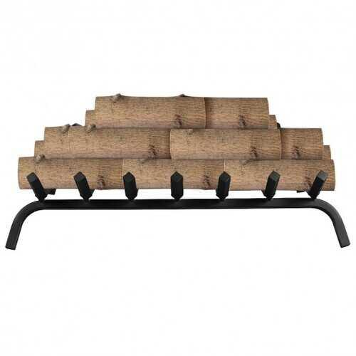 "30"" Iron Fireplace Log Grate Firewood Burning Rack - Color: Black - NorCal Cyber Sales"