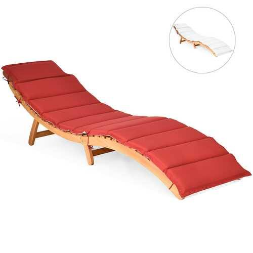 Folding Eucalyptus Outdoor Patio Lounge Chair - NorCal Cyber Sales