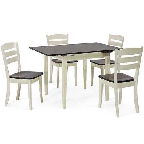 Extending 5 Piece Wood Dining Table Set - NorCal Cyber Sales