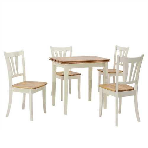 5 Piece Dining Folding Tabletop Set 4 Chairs - NorCal Cyber Sales