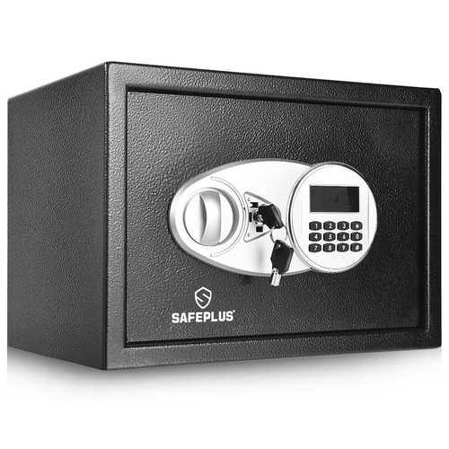 2-Layer Safe Deposit Box with Digital Keypad - Color: Black - NorCal Cyber Sales