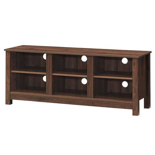 "60""  Entertainment TV Stand Cabinet-Brown - NorCal Cyber Sales"