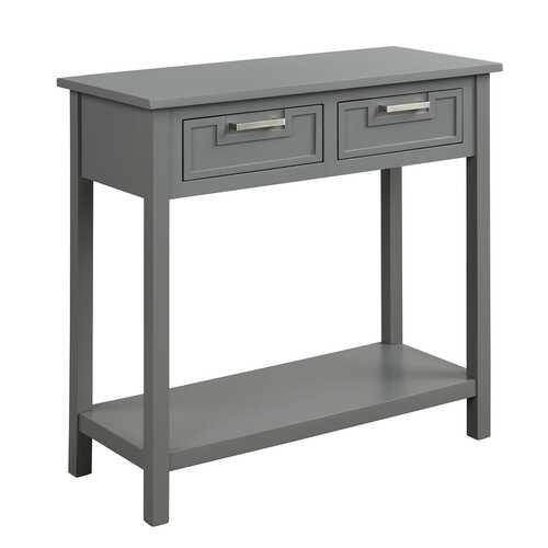 2 Drawers Accent Console Entryway Storage Shelf-Gray - Color: Gray - NorCal Cyber Sales