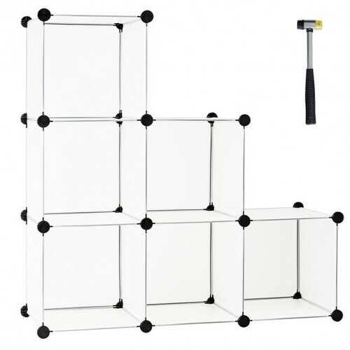 6 Cube Plastic Storage Organizer -White - Color: White - NorCal Cyber Sales