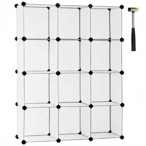 12 Cube Plastic Storage Organizer -White - Color: White - NorCal Cyber Sales