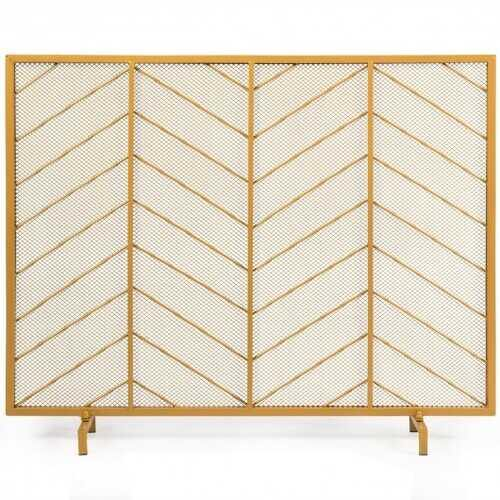 "39""x31"" Single Panel Fireplace Screen Spark Guard Fence - NorCal Cyber Sales"
