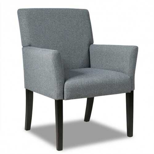 Executive Guest Chair Reception Waiting Room Arm Chair-Gray - Color: Gray - NorCal Cyber Sales