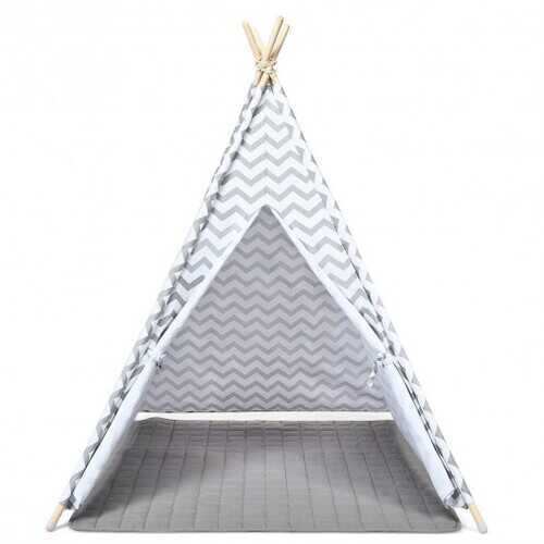 5.2' Portable Kids' Indian Play Tent - NorCal Cyber Sales