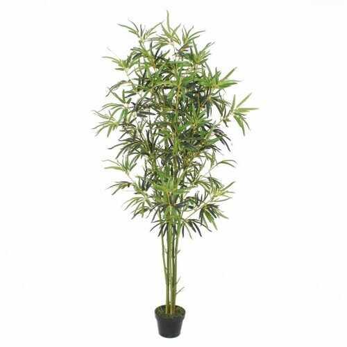 6 ft Artificial Bamboo Silk Tree Decorative Planter - NorCal Cyber Sales