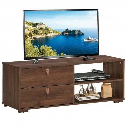 Entertainment Media TV Stand with Drawers-Walnut - Color: Walnut - NorCal Cyber Sales