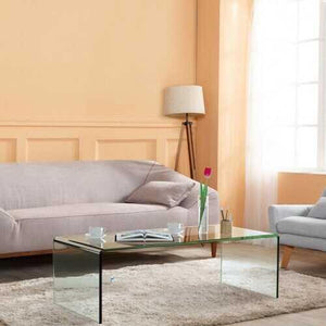 "42.0"" x 19.7"" x 14"" Tempered Glass Coffee Table  - Color: Transparent - NorCal Cyber Sales"