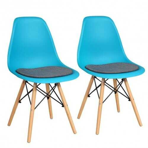 2Pcs Dining Chair Mid Century Modern DSW Chair Furniture-Blue - Color: Blue - NorCal Cyber Sales