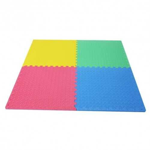 12 Pcs Kids Soft EVA Foam Interlocking Puzzle Play Mat for Exercise and Yoga -Color - Color: Multicolor - NorCal Cyber Sales