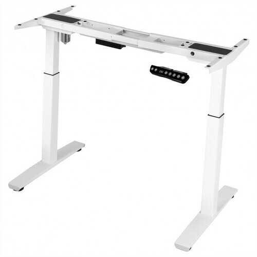 Adjustable Electric Stand Up Desk Frame-White - Color: White - NorCal Cyber Sales