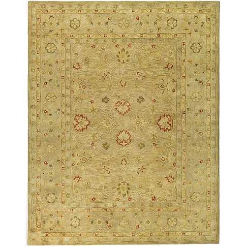 Handmade Majesty Light Brown/ Beige Wool Rug (8' Square)