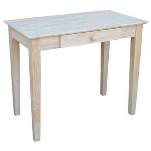 Solid Unfinished Wood Laptop Desk Writing Table with Drawer - NorCal Cyber Sales