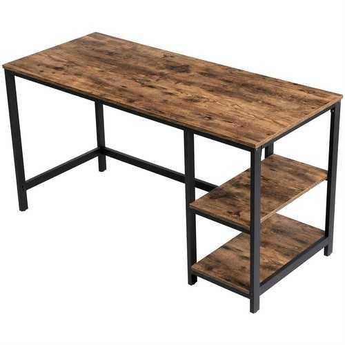 55 Inch Industrial Wood Metal Computer Writing Desk Left or Right Facing - NorCal Cyber Sales