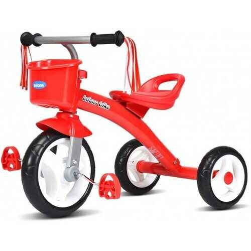 Kids Tricycle Rider with Adjustable Seat-Red - Color: Red