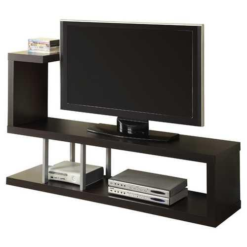 Modern Entertainment Center TV Stand in Cappuccino Finish - NorCal Cyber Sales
