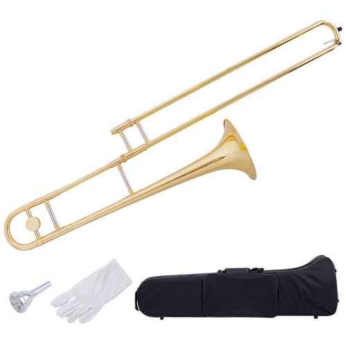 B Flat Trombone Golden Brass with Mouthpiece - Color: Golden - NorCal Cyber Sales