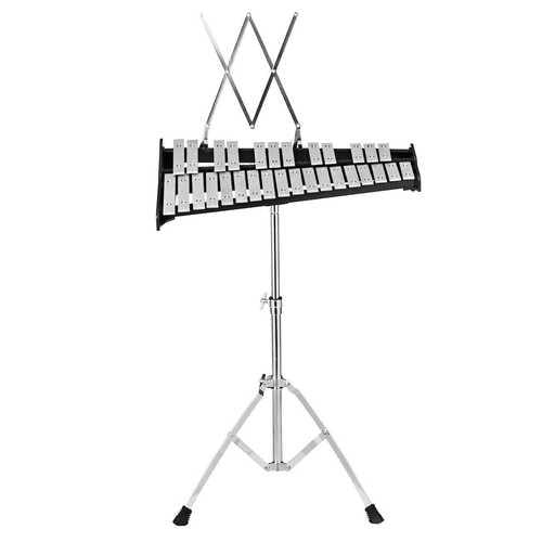 30 Notes Percussion with Practice Pad Mallets Sticks Stand - Color: Black - NorCal Cyber Sales