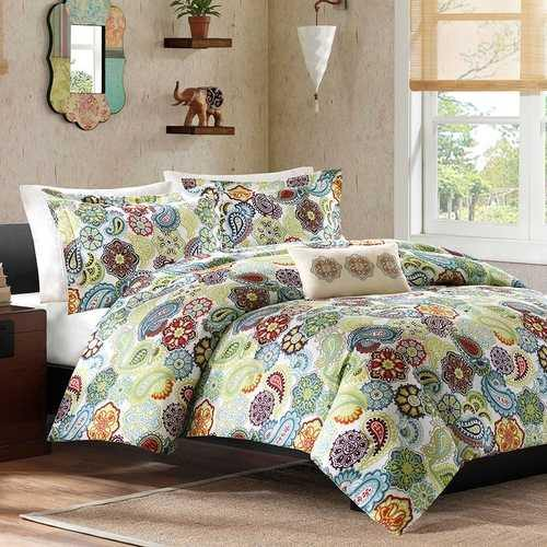 King size Multi Color Paisley 4 Piece Bed Bag Comforter Set - NorCal Cyber Sales