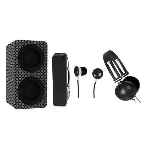 Naxa Portable Bluetooth Stereo Speakers Entertainment Pack-Black - NorCal Cyber Sales