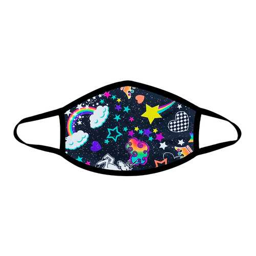 Girl Crush Neon Uv Face Mask With Black Trim - NorCal Cyber Sales