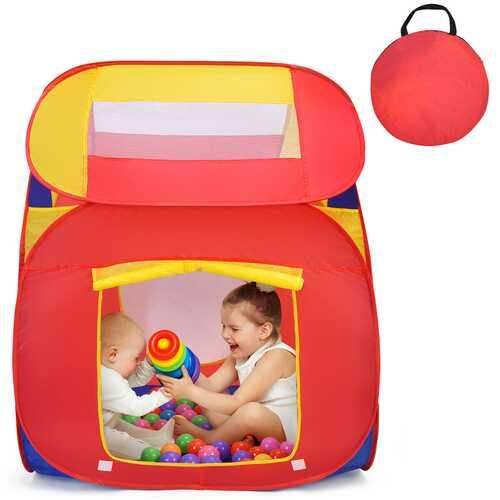Portable Kid Play House Toy Tent with 100 Balls - Color: Multicolor - NorCal Cyber Sales