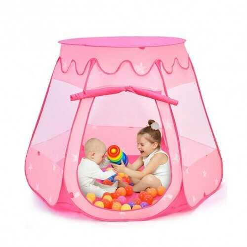 Pink Portable Kid Play House Play Tent with 100 Balls - Color: Pink - NorCal Cyber Sales