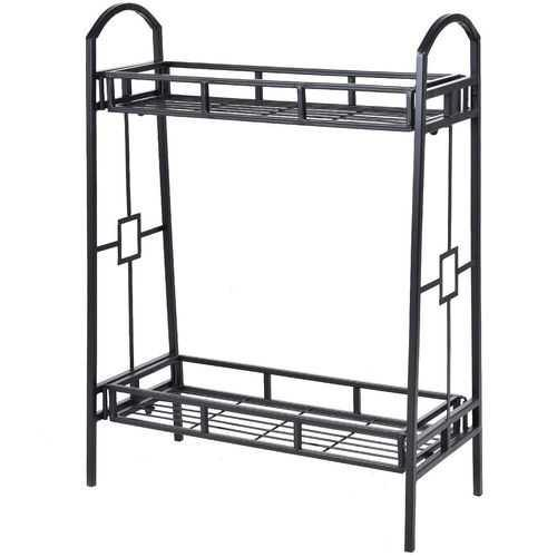 Heavy Duty 2-Tier Metal Flower Plant Stand - NorCal Cyber Sales