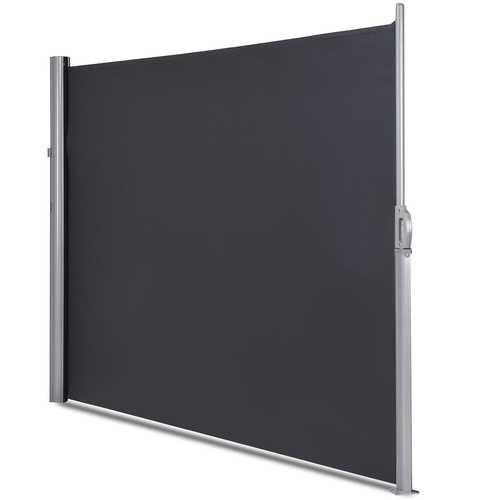"118.5"" x 63"" Patio Retractable Folding Side Awning Screen Privacy Divider - NorCal Cyber Sales"