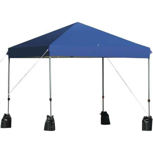 8'x8' Outdoor Pop up Canopy Tent  w/Roller Bag-Blue - Color: Blue - NorCal Cyber Sales