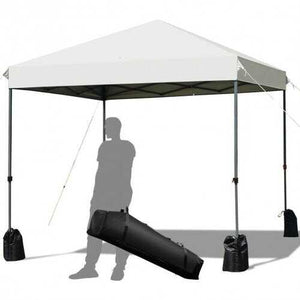 8'x8' Outdoor Pop up Canopy Tent  w/Roller Bag-White - Color: White - NorCal Cyber Sales