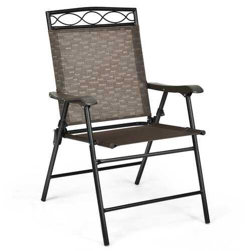 Set of 4 Patio Folding Chairs - NorCal Cyber Sales
