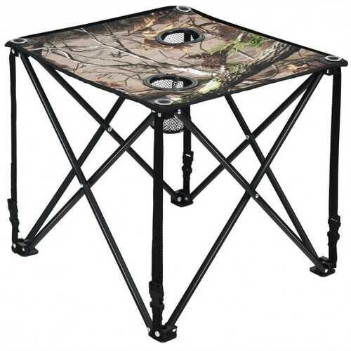 Outdoor Portable Lightweight Folding Camping Hunting Table with 2 Cup Holders - NorCal Cyber Sales