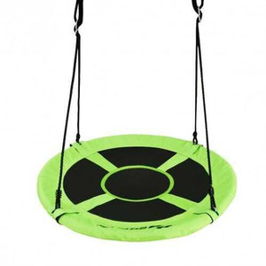 "40"" 770 lbs Flying Saucer Tree Swing Kids Gift with 2 Tree Hanging Straps-Green - Color: Green - NorCal Cyber Sales"
