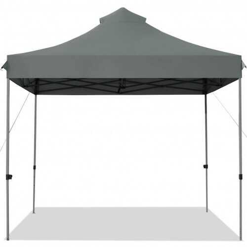 10' x 10' Portable Pop Up Canopy Event Party Tent Adjustable with Roller Bag-Gray - Color: Gray - NorCal Cyber Sales