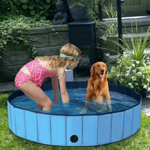 "55"" PVC Outdoor Foldable Pet and Kids Swimming Pool-Blue - Color: Blue - NorCal Cyber Sales"