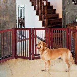 "30"" Configurable Folding Free Standing Wood Pet Safety Fence - NorCal Cyber Sales"
