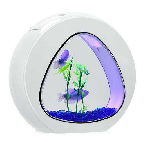 1Gallon Fish Aquarium Tank with Filter Air Pump-White - Color: White - NorCal Cyber Sales