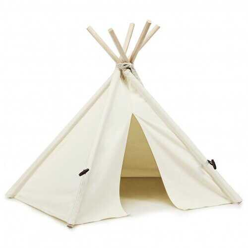 Indoor Pet Teepee Dog Puppy Cat Bed Portable Pet Canvas Tent and House - NorCal Cyber Sales