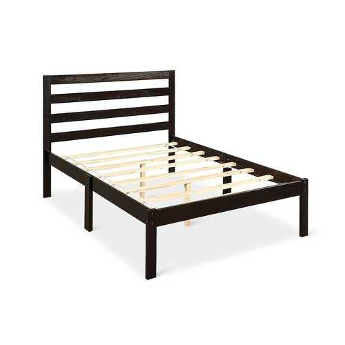 Platform Bed Twin Size Bed Frame Wood Slat Support