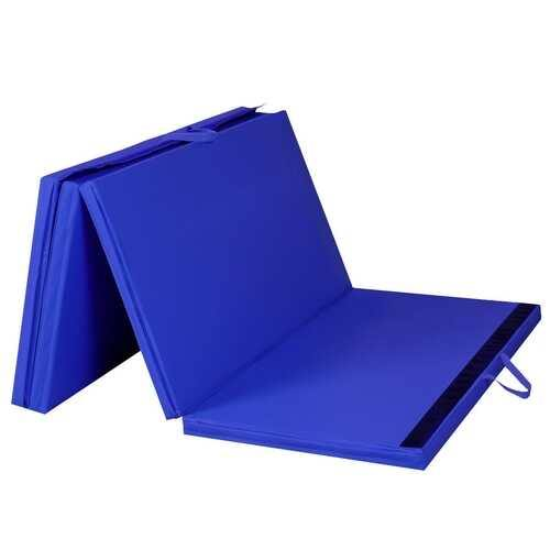 "4' x 8' x 2""  Folding Panel Exercise Gymnastics Mat-Blue - NorCal Cyber Sales"