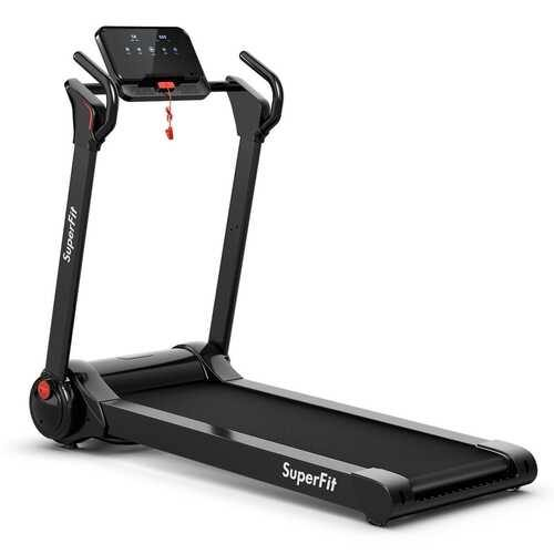 2.25HP Folding Electric Motorized Treadmill-Black - Color: Black - NorCal Cyber Sales