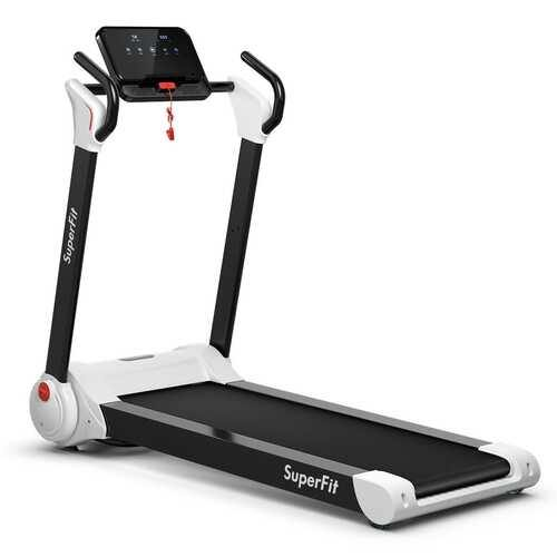 2.25HP Folding Electric Motorized Treadmill-White - Color: White - NorCal Cyber Sales